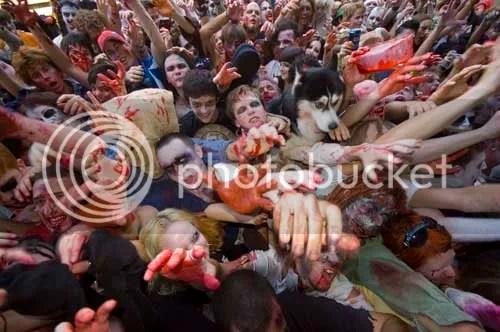 Zombie walk en México