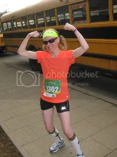Me after finishing the Rodes City Run 10K - Downtown Louisville, Kentucky