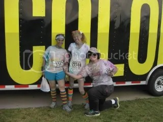 Marisa, me, and Cathy before departing from The Color Run - Louisville, Kentucky