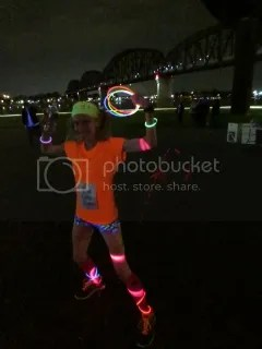 Me after finishing The Glo Run - Louisville, Kentucky