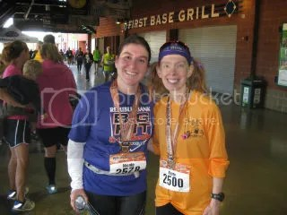 Nikky and I after we both finished the Big Hit 1/4 Marathon - Louisville, Kentucky