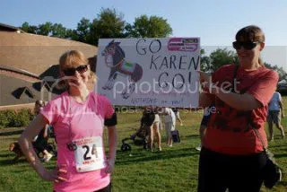 Me and Cathy at my first race back after injury last year was the Walk Away From Colon Cancer 5K Run.  It has the same distinction this year.
