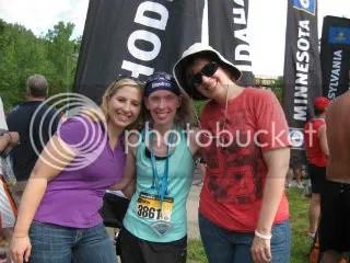 Heather, Me, and Cathy after the Minneapolis Half Marathon - Minneapolis, Minnesota