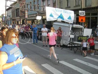 Me crossing the finish line of the Pro.Active For Life 5K - Frankfort, Kentucky