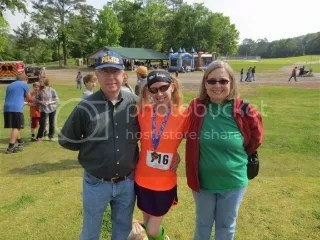 My dad and my mom all smiles after I received my Third Overall medal and gift card prizes.  They were so proud of me.