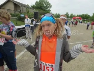 Me at the Throo The Zoo 5K after waiting on results and leaving without any due to