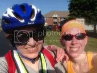 Cathy and I after our 18 mile adventure!