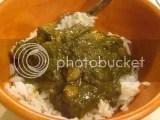 Tasty Bite Spinach Channa over jasmine rice