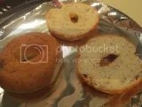 Udi's Gluten-Free Everything Inside Bagels (one full, one halved)