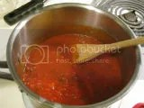 The Silver Palate San Marzano Tomato Basil Pasta Sauce (heating on stove top)