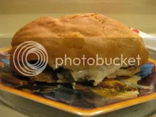Gluten-Free Portabello Mushroom Cheesesteak Sandwich