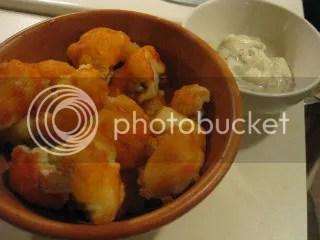 Spicy Buffalo Cauliflower (with a Vegan Ranch Dip)