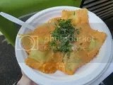 Sweet 'N' Savory's Gluten-Free Three Cheese Ravioli with a Roasted Red Pepper Cream Sauce