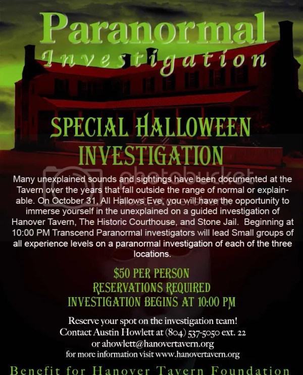 Paranormal Investigation at Hanover Tavern