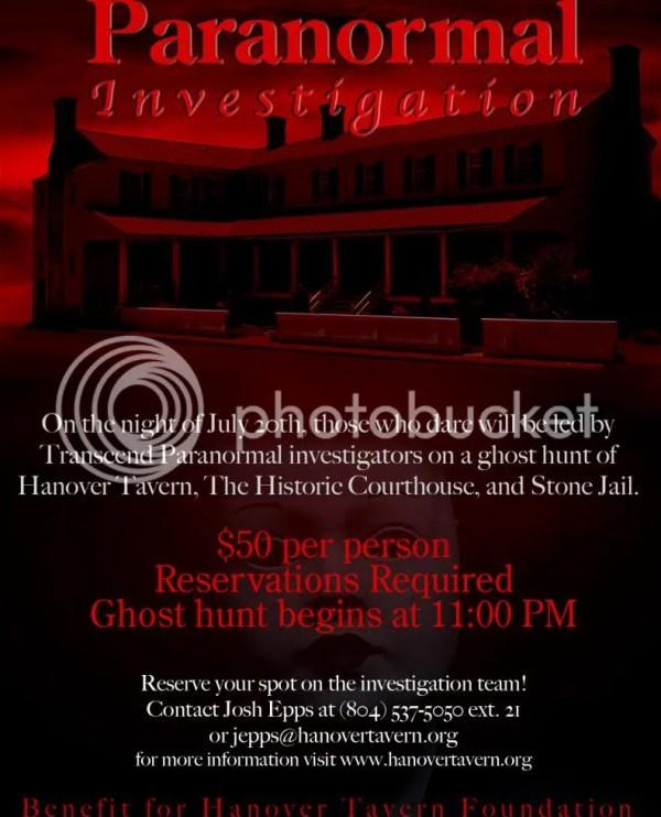Paranormal Investigation at Hanover Tavern