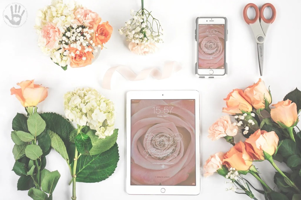 Kirsten Ashley Photography & Design | April Freebie | Blush Digital Wallpaper