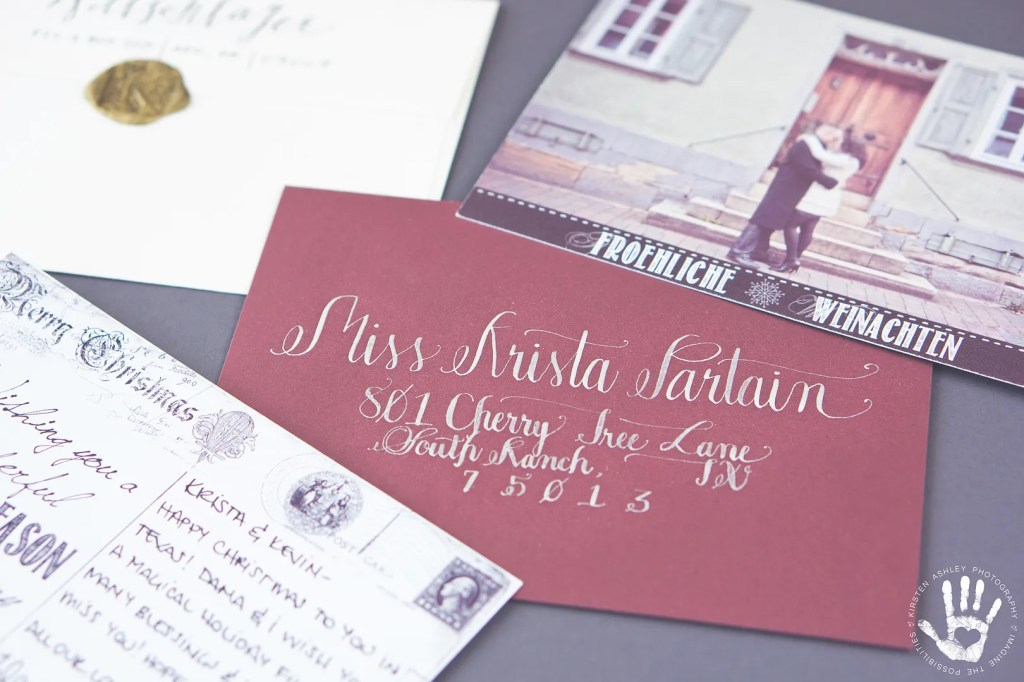 Holiday Card & Calligraphy by Kirsten Ashley Photography & Design