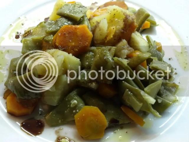 Judías verdes con patata y zanahoria
