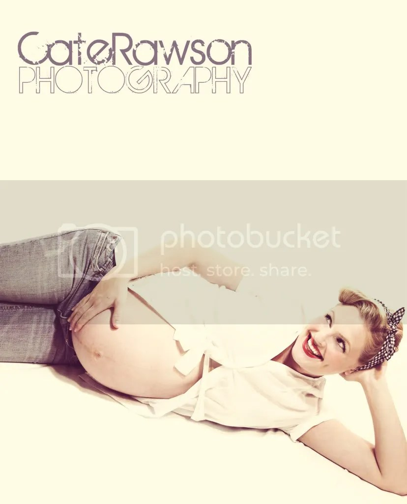 Maternity Vintage Pin Up Style Photo