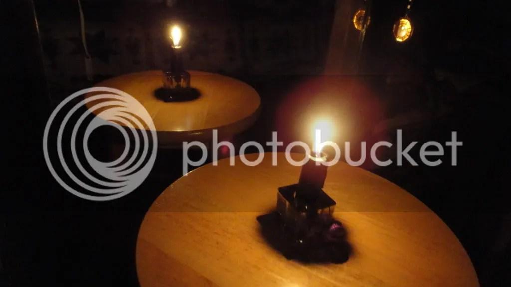 black lit candle