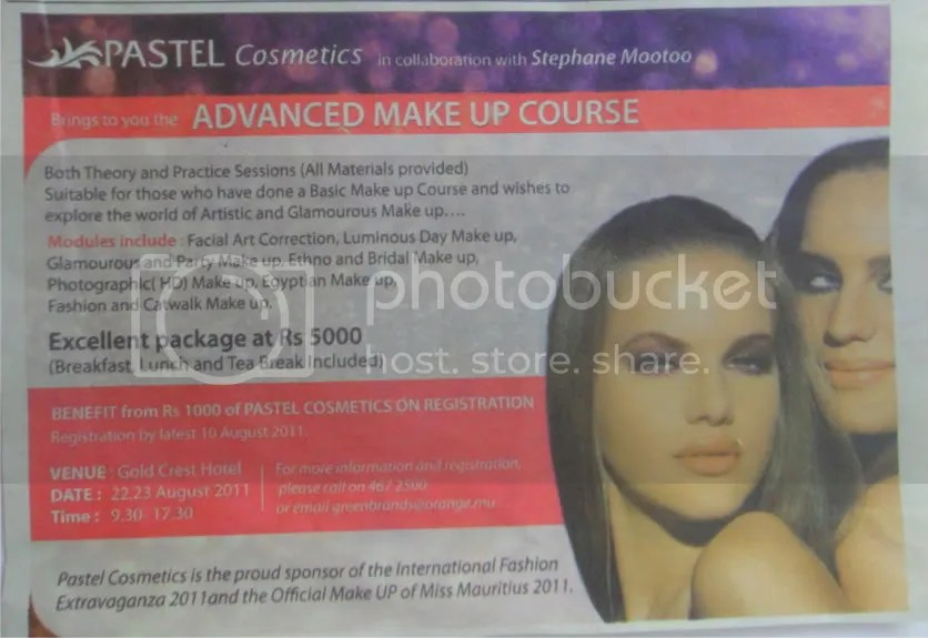 pastel cosmetics makeup courses in mauritius