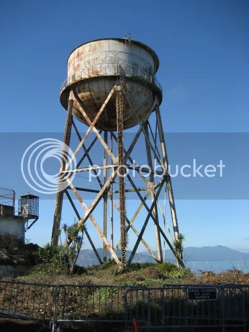 Water tower at Alcatraz