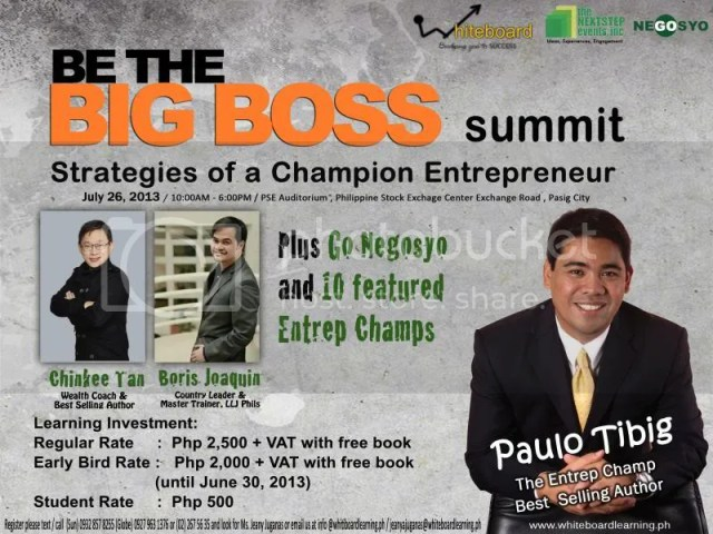 Be the Big Boss Summit 2013
