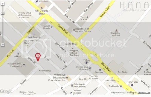 Map Uncle moe's shawarma pasig