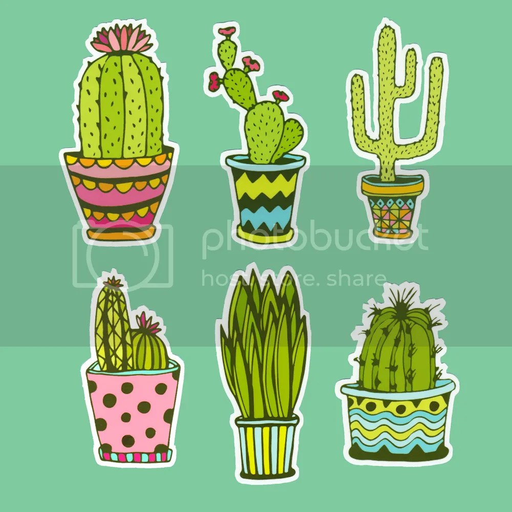 Cactus Family Draw So Cute