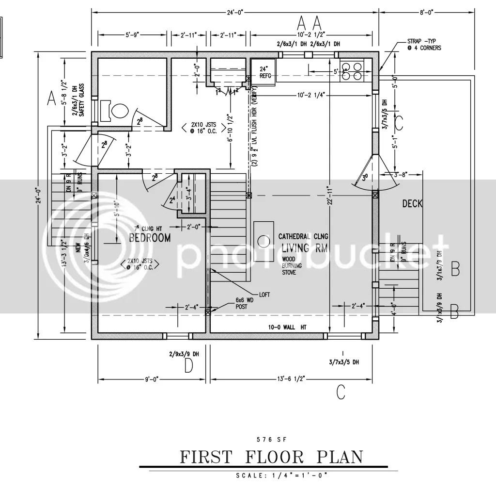 Wood 24x24 Cabin Plans With Loft Plans