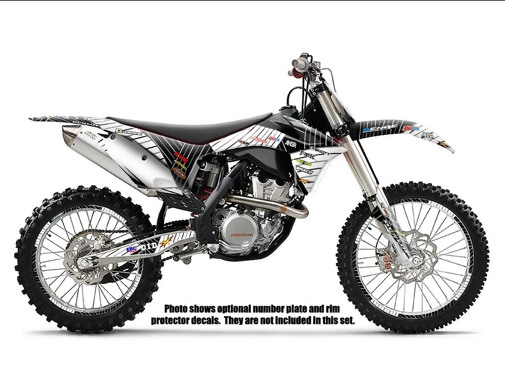 Fits Ktm Sx 125 150 250 2 Stroke Graphics Kit