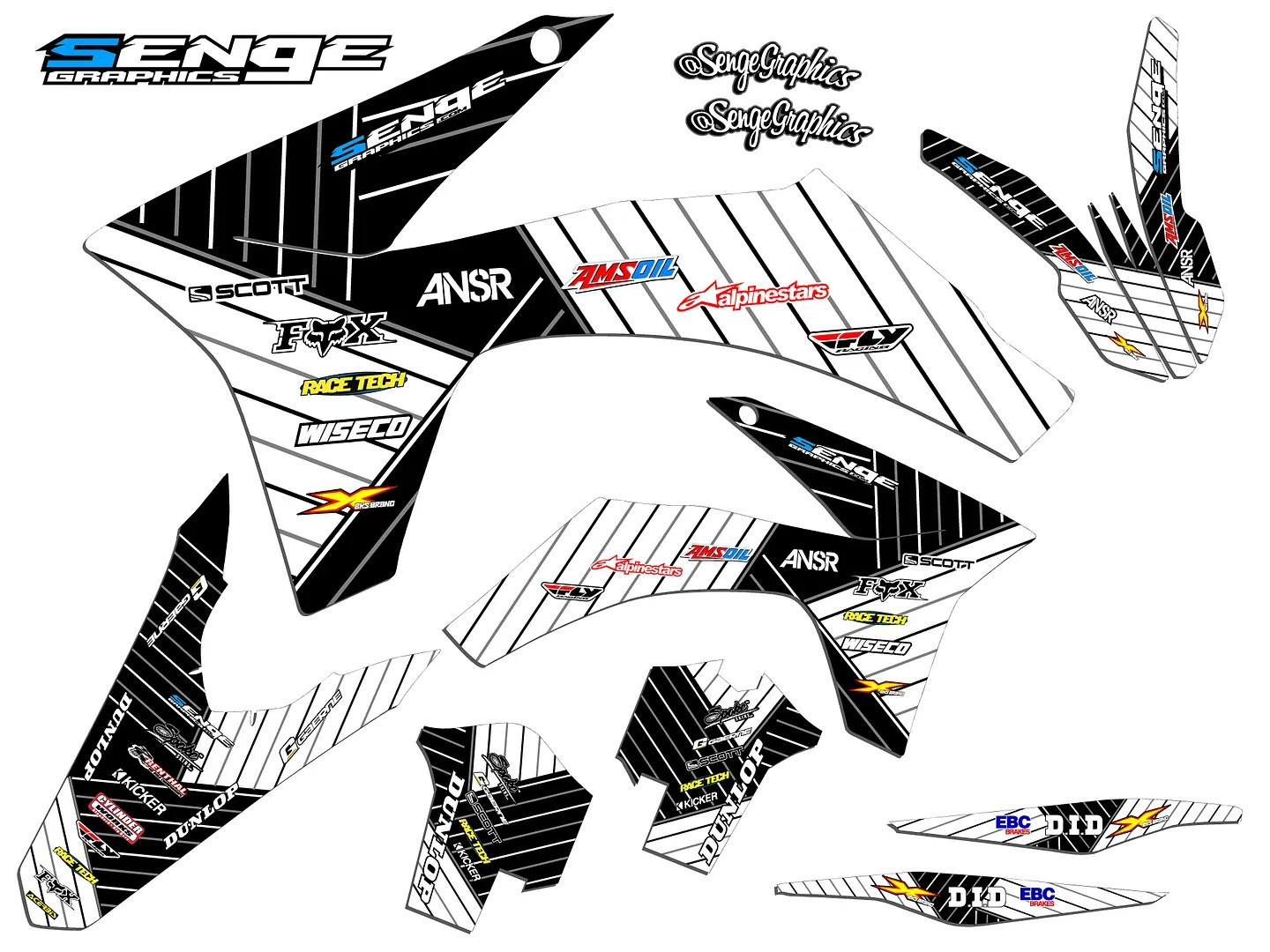 Ktm Exc Lc4 Graphics Kit Decals 2