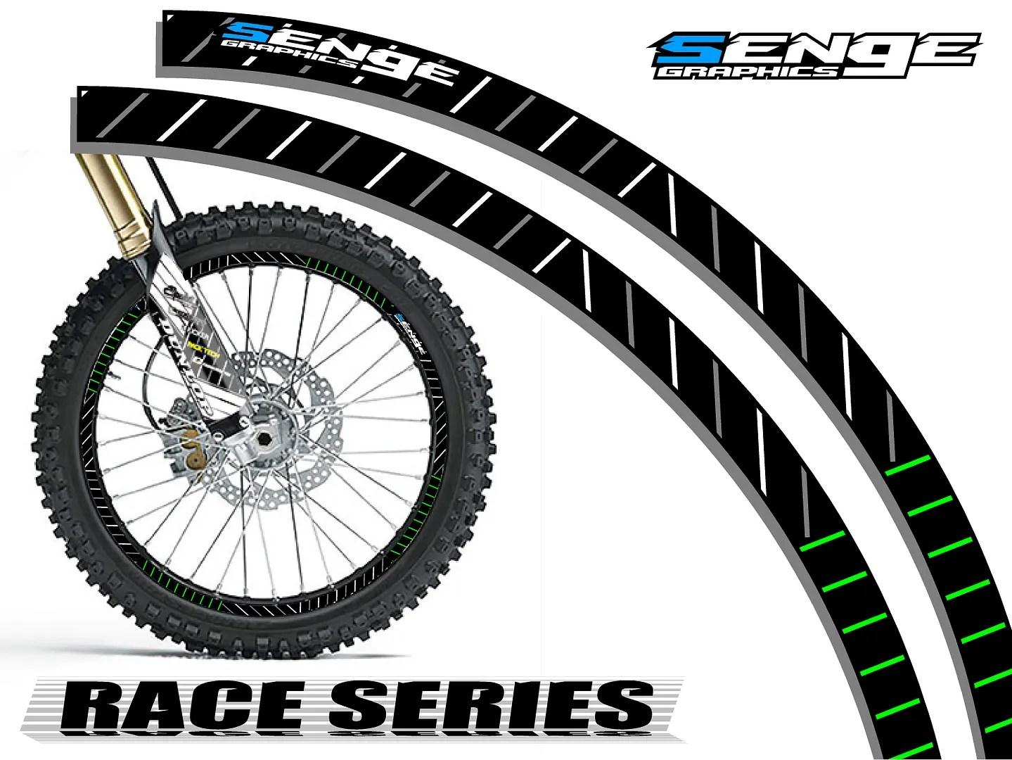18 Amp 21 Inch Dirt Bike Rim Protectors Wheel Decals Tape