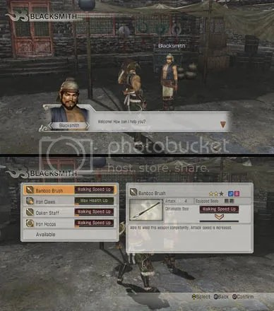 Dynasty Warriors 7 City Facilities