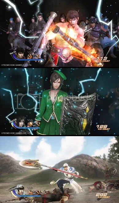 Dynasty Warriors 7 DLC - Shu / Wu school uniforms & Great Axe