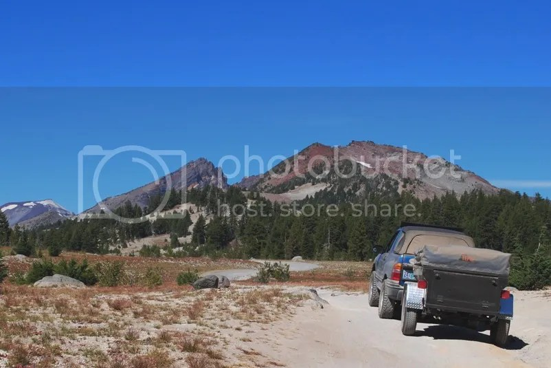 Jeep Trailer Broken Top Mountain Oregon Adventure with Compact Camping Trailers and Dinoot Trailers