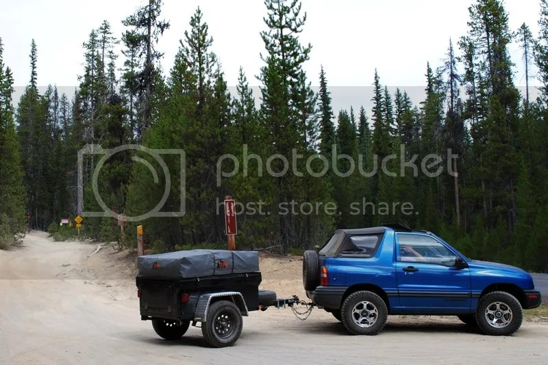 Jeep Trailer Forest Road Oregon Adventure with Compact Camping Trailers and Dinoot Trailers 4WD Trail Crescent Lake Trail