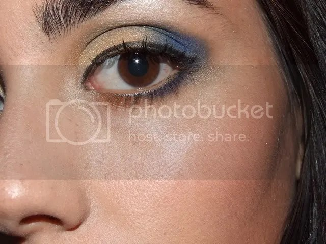 Royal Blue & Gold Look