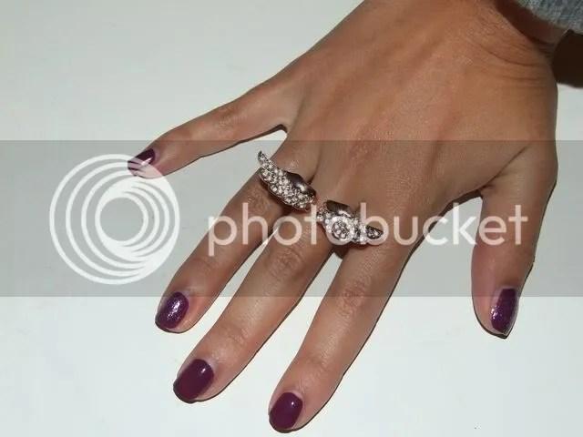 NYX purple glitter & Catrice