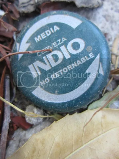 Discarded bottle cap