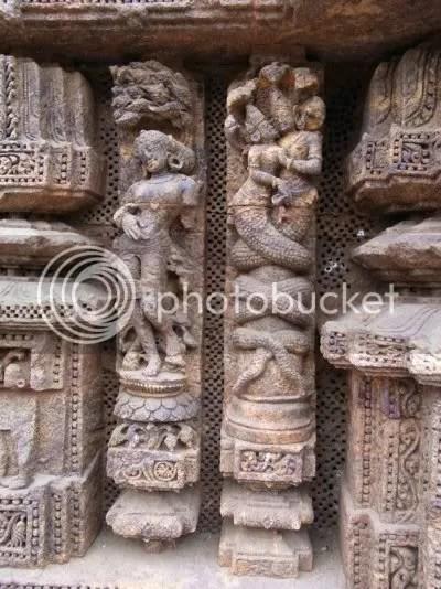 Konark sun temple creatures