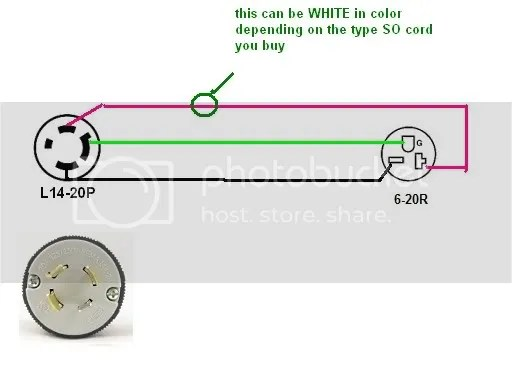 How Do I Wire A 6-20R Receptacle To A L14-20P Plug?