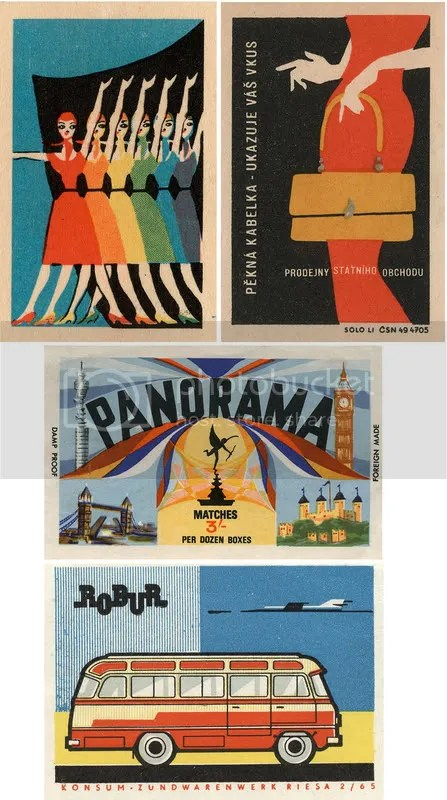 European matchbox labels