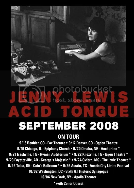 jenny lewis, acid tongue