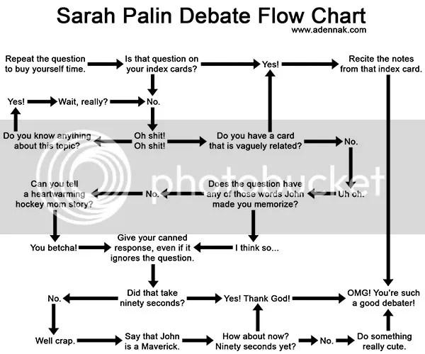 sarah palin flow chart