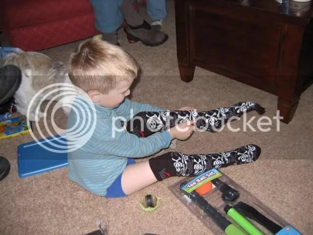Jacks thigh-high socks were a hit