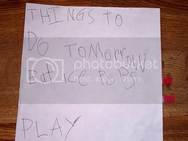 To Do List for Kids