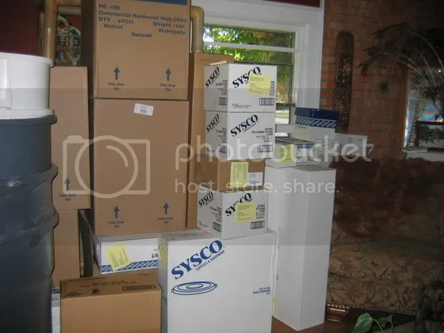 Boxes from Sysco