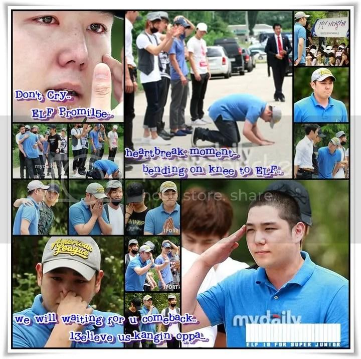 Kangin's off to the Military