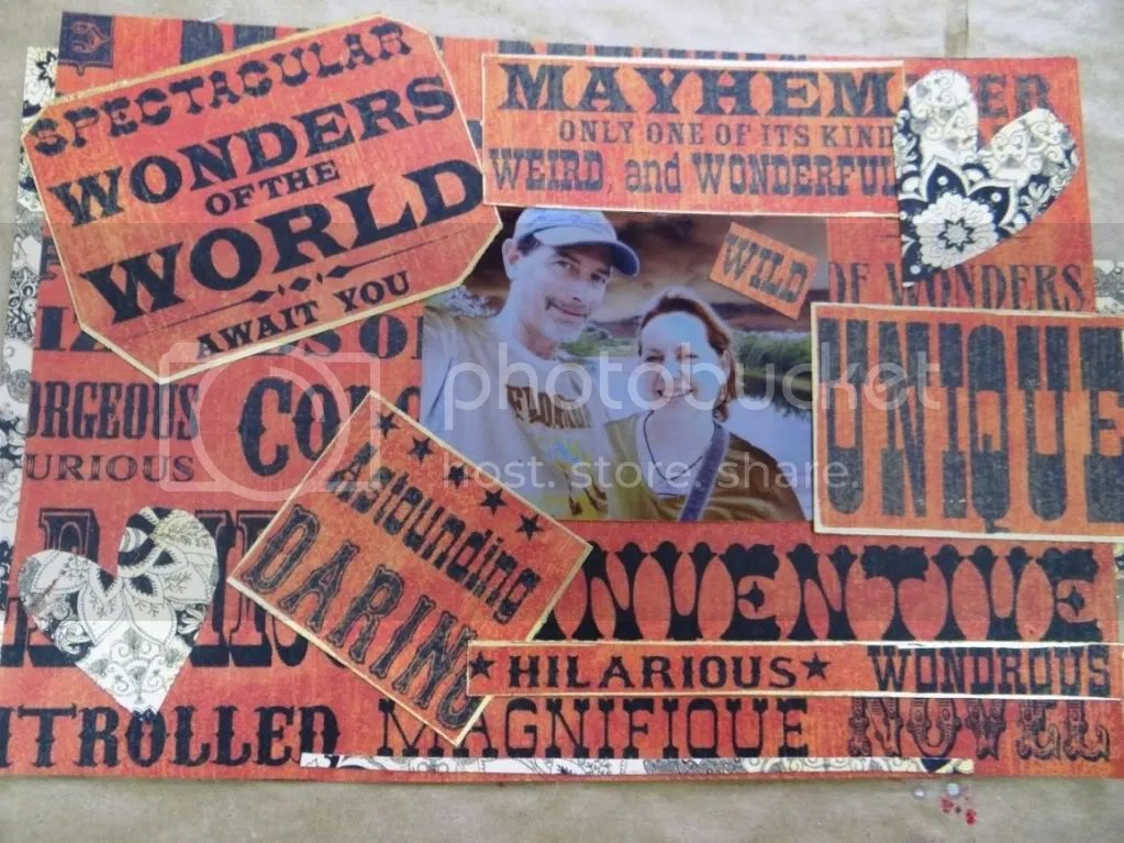 Scrapbook Collage Close Up